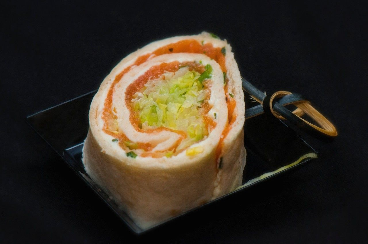 Mini zalm wraps